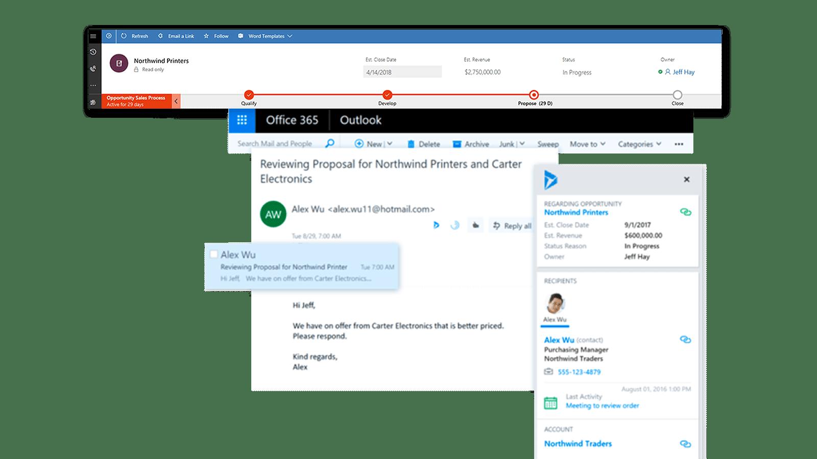 Vergroot de productiviteit van uw verkopers | Microsoft Dynamics 365 for Sales