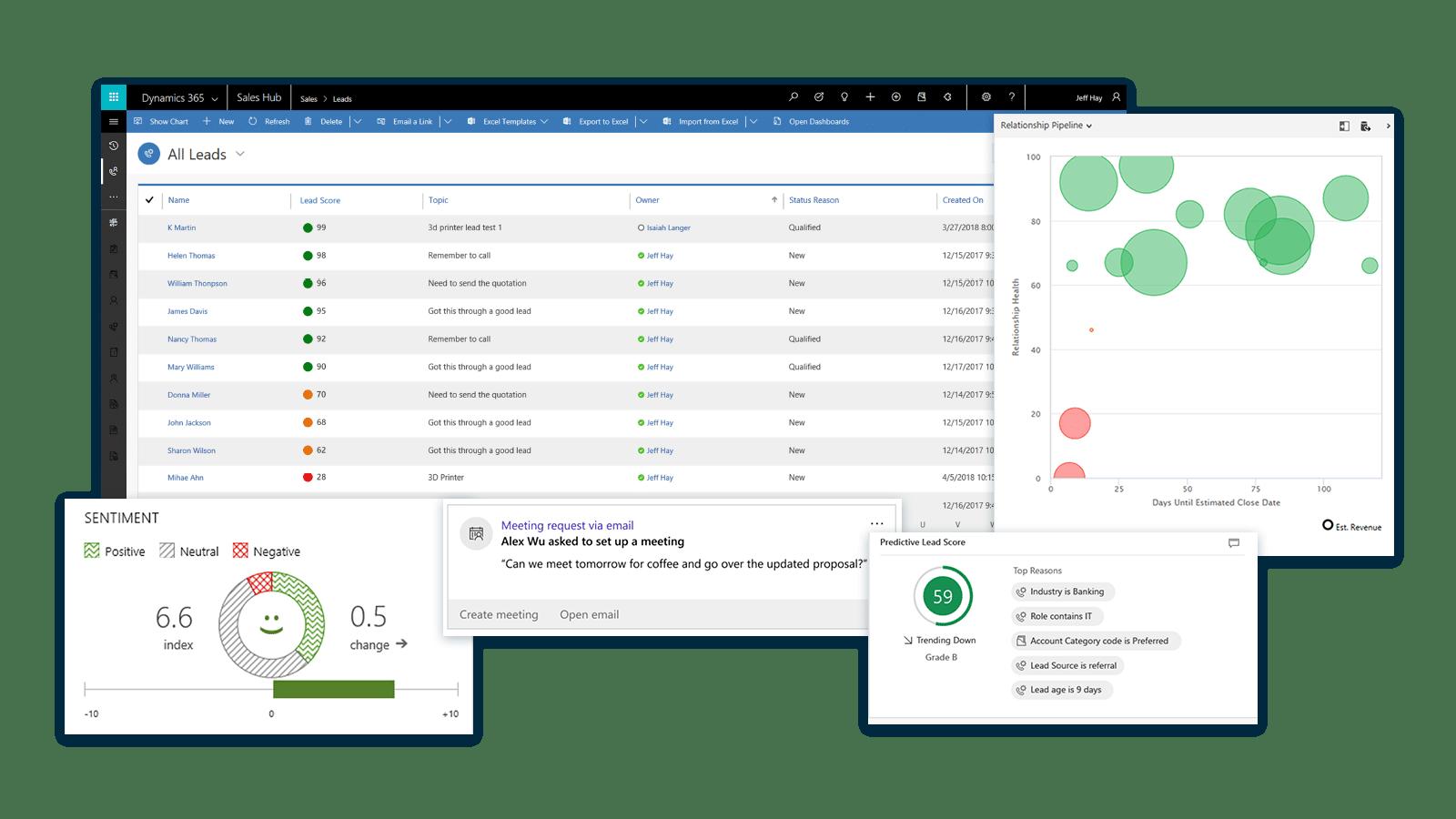 Slimmer verkopen met inzicht | Microsoft Dynamics 365 for Sales