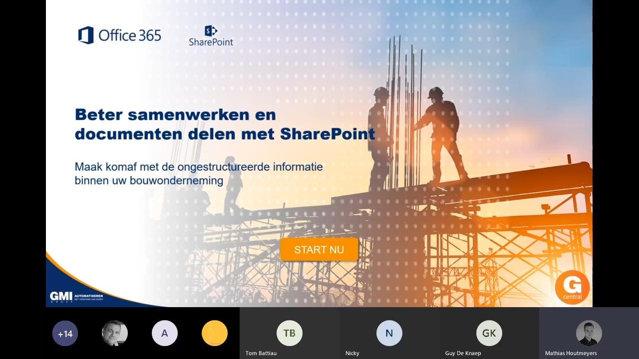 Gcentral Webcast | Beter samenwerken en documenten delen met SharePoint