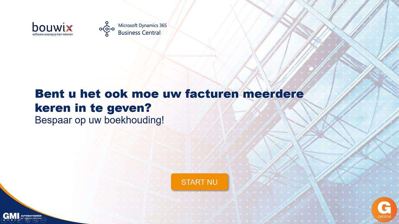 Gcentral Webinar | Automatisch facturen verwerken met bouwix in Business Central
